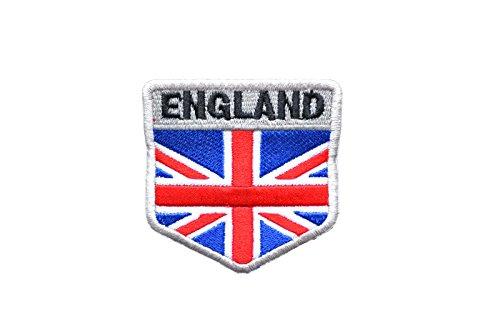盾型 イギリス国旗 ENGLAND ミリタリー ワッペン パッチ RWB (フルカラー)