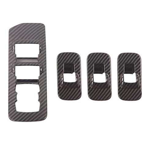Accesorios del marco de la cubierta del panel del botón del interruptor de elevación del vidrio de la ventana del automóvil , para Ford F150 Raptor 2020