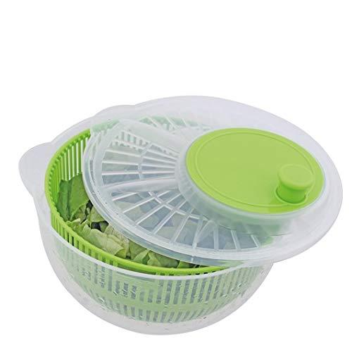 allaroundprofi24 Salatschleuder Salat Schleuder Salattrockner Salatmanager mit Kurbel Sieb Neu (Blau) + 1 Mikrofasertuch Vani