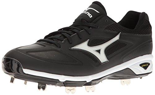 Mizuno Men's Dominant IC Baseball Shoe, Black/White, 10 D US