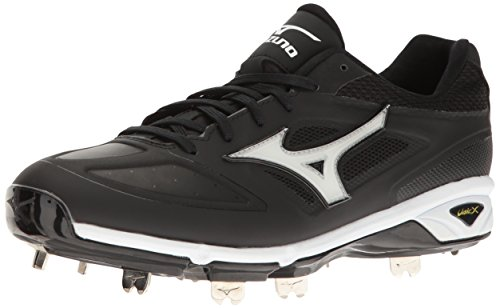 Mizuno Men's Dominant IC Baseball Shoe, Black/White, 10 D US