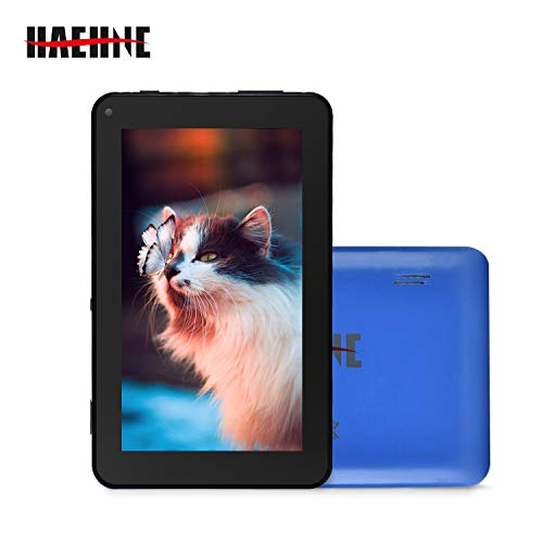 Haehne 7 Zoll Tablet PC, Google Android 9.0 GMS Zertifiziertes, HD Bildschirm, 1GB RAM 16GB ROM, Bluetooth, WiFi, Blau