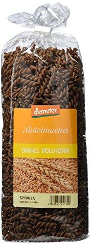 Demeter Nudelmacher Dinkelvollkorn Spiralen, 4er Pack (4 x 500 g)