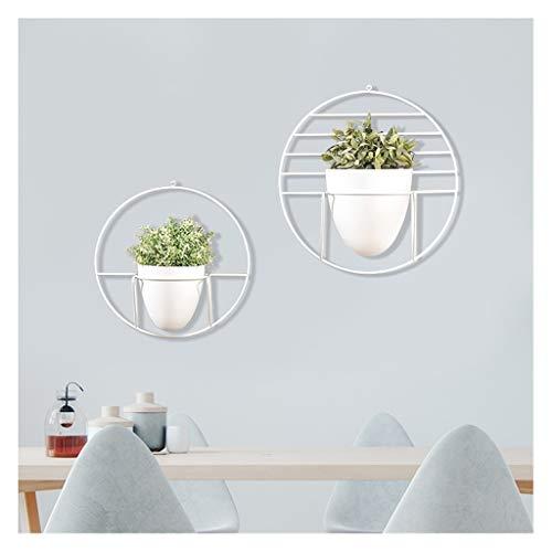 YJPDPHJZ Bloemenstandaard op de muur, wandgemonteerde ijzeren wandplank, groene pot balkon bloempotrek, vlezige hangende bloemenrek