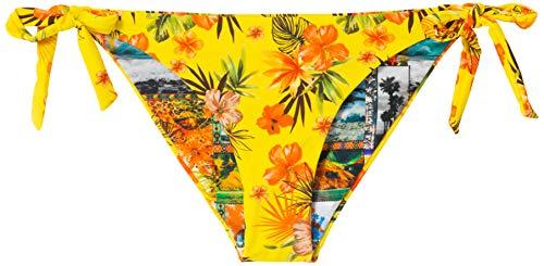 Desigual Biki Florida B Parte Inferiore del Bikini, Blu, XL Donna