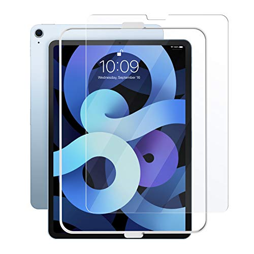 tomtoc Screen Protector for 10.9-inch iPad Air 4 2020, Tempered Glass Screen Protector for iPad Air (4th Generation) with Alignment Frame, Ultra Sensitive, iPad Pencil Compatible