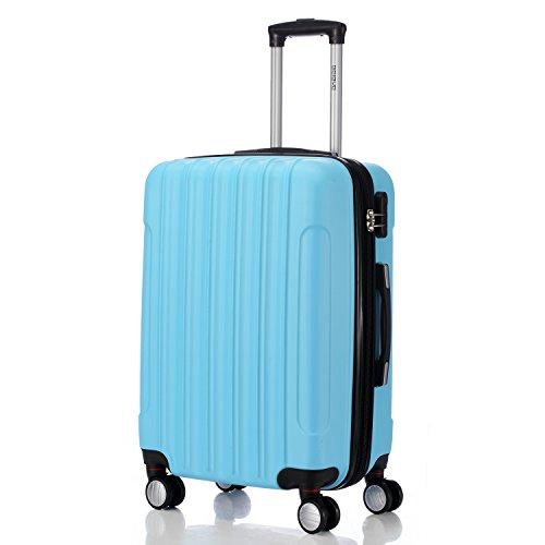 BEIBYE LG2050 doble ruedas carcasa rígida maleta estuche de viaje, Himmelblau, Medium