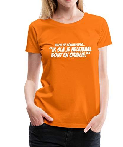 Spreadshirt Bont En Oranje Grappige Koningsdag Vrouwen Premium T-shirt
