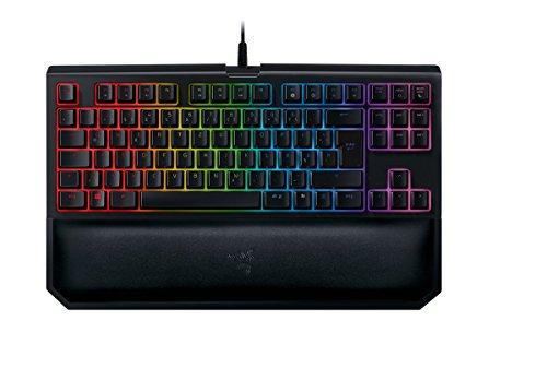 Razer BlackWidow Tournament Edition Chroma V2 - Taktile und Klickende Mechanische Gaming Tastatur (Razer Green Switches, RGB Beleuchtet, Kompaktes Design, DE-Layout)
