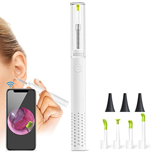 Ear Cleaner,ScopeAround Ear Wax Removal Tool, Earwax Removal Kit with 3.9mm HD Ear Camera,6 LEDs,Wireless Otoscope for iPhone, Android