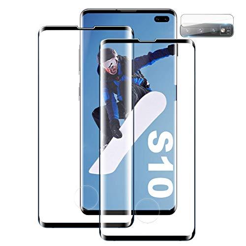 Panzerglas Schutzfolie Kompatibel mit Samsung S10,[2 Stück] [Ultra Klar] [Keine Blasen][Unterstützt die Fingerabdruckerkennung] 9H Gehärtetem Glas Displayschutzfolie für Samsung Galaxy S10