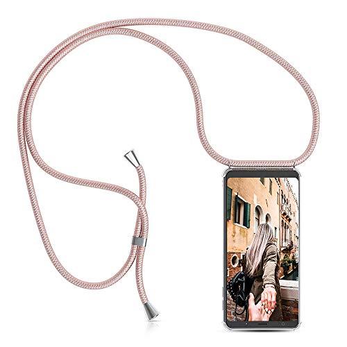 Handykette Handyhülle mit Band für Samsung Galaxy A5 2017 Cover - Handy-Kette Handy Hülle mit Kordel Umhängen -Handy Halsband Lanyard Hülle/Handy Band Halsband Necklace