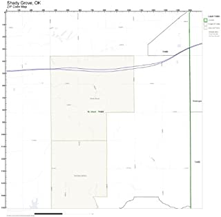 ZIP Code Wall Map of Shady Grove, OK ZIP Code Map Not Laminated