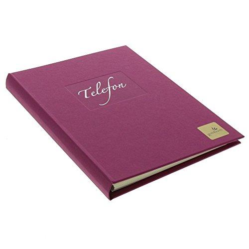 Preisvergleich Produktbild Goldbuch Telefonspiralbuch,  A-Z,  17 x 23 cm,  Kunstdruck geriptt mit Silberprägung,  Seda,  Brombeere,  62048