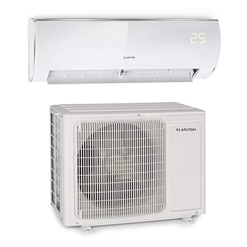 Klarstein Windwaker Eco Split - Klimaanlage, Heiz- und Kühlgerät, Energieeffizienzklassen: A++/A+, 5 Betriebsmodi, 3 Schlafmodi, LED-Display, Fernbedienung, 12.000BTU/3,5 kW, Luftstrom: 680 m³/h, weiß