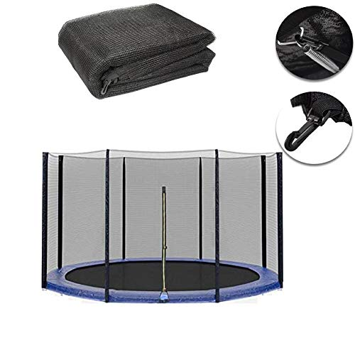 LIN Trampoline Net Replacement Safety Enclosure Net, Trampoline Accessoire Safety Netting, for 8 Pole Trampoline(Net Only),12ft
