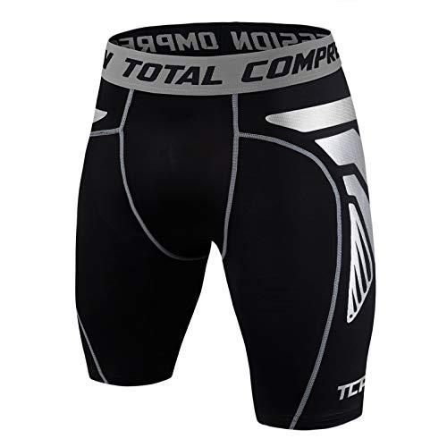TCA Homme CarbonForce Short de Compression Collant Thermique pour Course - Noir, L Homme