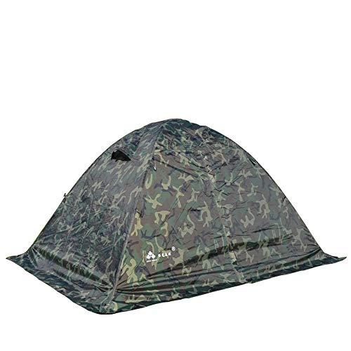 Doble Ventiladores Militares al Aire Libre Anti-tormenta Camping Camuflaje Doble Poste De Aluminio Carpa Cuatro Estaciones Carpa Caliente