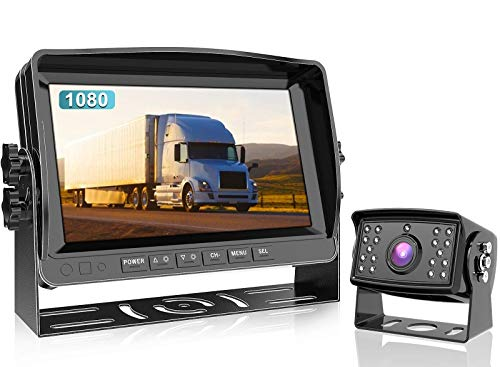 Fookoo Ⅱ HD 1080P Wired Backup Camera System Kit, 9 inch 1080P Reversing Monitor IP69 Waterproof Rear View Camera, Sharp CCD Chip, Parking Lines,Truck/Trailer/Box Truck/RV (DY901)