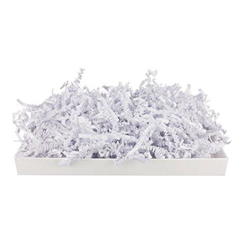 SizzlePak 200, Weiß, weißes Füllmaterial und Polsterpapier zum Füllen, Polstern, Ausstopfen, Dekorieren von Geschenk-Verpackungen, Deko - 1 kg