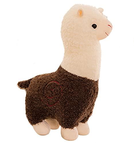 YANGLIXIA Mullido Alpaca Juguete de Peluche de Juguete, Juguetes de Alpaca Grande muñecas Grandes Abrazo de Peluche Almohada Suave Mullido cojín Regalo de San Valentín para ni brown-38cm