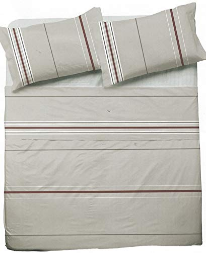 NOVIA - Sábanas matrimoniales completo de algodón, juego de sábanas de matrimonio Venere | Juego de sábanas de matrimonio de dos plazas | Juego de cama de matrimonio (Pompea Rialto V941)