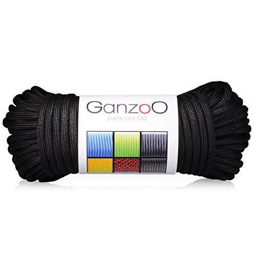 Paracord 550 Seil Für Armband, Leine, Halsband, Nylon-Seil 31 Meter, Schwarz
