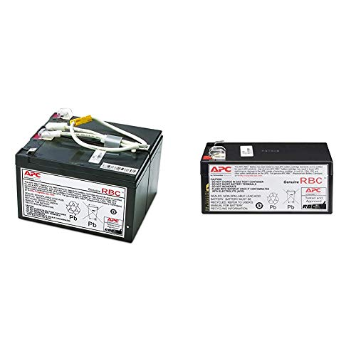 APC UPS Battery Replacement, APCRBC109, for APC UPS Models BR1500LCD and Select Others & UPS Battery Replacement, RBC35, for APC Back-UPS Models BE350G, BE350C