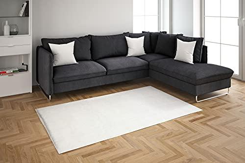 Tappeto da soggiorno con tappeto REFORM Touch Collection – morbido, facile da pulire, lavabile, leggero, non infeltrisce e pieghevole, tappeto a pelo lungo con stile moderno soffice, 160 x 230 cm