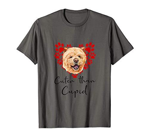 CHOW CHOW Cuter Than Cupip Perro Día San Valentín Camiseta