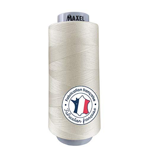 Made in France – Hilos de coser de poliéster color beige 2500 m – Bobinas para máquina de coser y máquina de coser – Certificado Ecogriffe y OEKO-TEX®