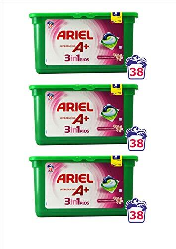 Ariel Capsulas A+ 3 en 1 Fresh Sensations 38 dosis pack de...