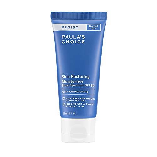 Paula's Choice RESIST Skin Restoring Moisturizer SPF 50, UVA & UVB Protection, Shea Butter & Niacinamide, Anti-Aging Sunscreen for Dry Skin, 2 Ounce