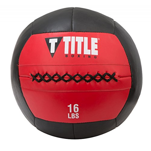 Title Boxing Max Medicine Ball, Red/Black, 16 lbs