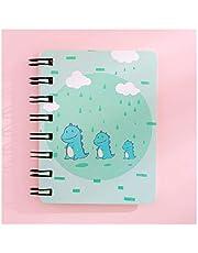 WEIGENG - Cuadernos de dibujo divertido de dinosaurio A7 con bobina lindos suministros de oficina para estudiantes, regalos de papelería, color C