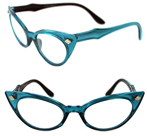 Lolablossom Cat Eye Nerd bril helder glas pin-up smal jaren 50 Rockabilly stijl