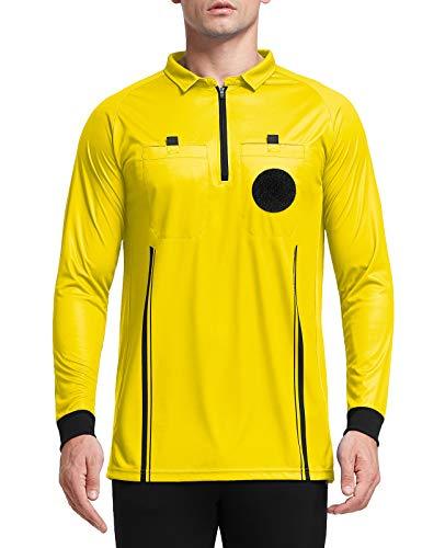 FitsT4 Men's Pro Soccer Referee Jersey Long Sleeve Ref Shirt