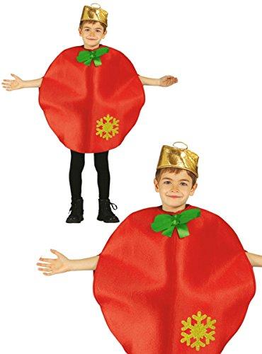 Disfraz de bola navidad infantil 5-6 años