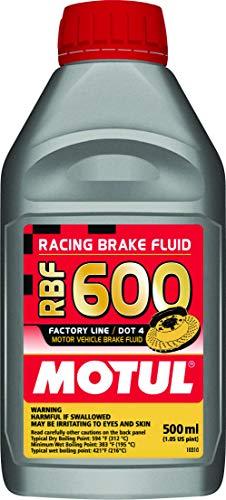 Motul MTL100949 8068HL RBF 600 Factory Line Dot-4 100 Percent Synthetic Racing Brake Fluid-500