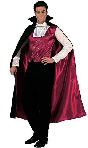Atosa-96667 Disfraz Vampiro Rojo, color negro, XL (96667)
