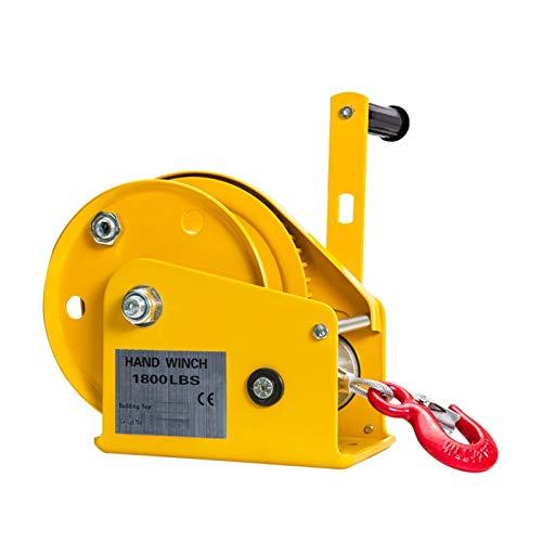 YEZIN Corda per verricello Sintetico Bidirezionale autobloccante burberetta Mano con Freno Automatico Trattore Manuale verricello per ATV UTV. (Color : 1200LB)