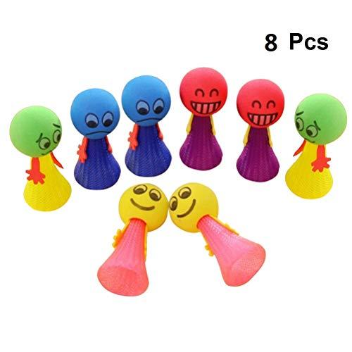YeahiBaby 8 stück Springende Spielzeug Kinder Springbälle Spielzeug Mitgebsel Größe S (Zufällige Farbe)