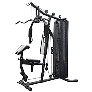 BalanceFrom-Home-Gym-System Workout-Station with 380LB of Resistance, 145LB-Weight Stack, Comes with Installation Instruction-Video