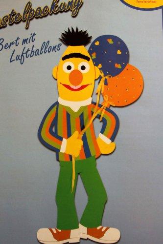 *** XXL - Bastelpackung Fischer Fensterbild  BERT MIT Luftballons  Bastelpackung / komplett /ca. 50 x 109 cm / zum Selberbasteln / Mobile / eine originelle Geschenkidee für Kinder ***