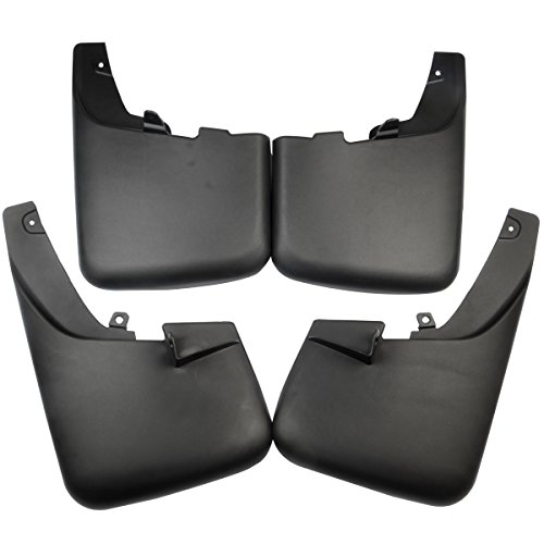 Set of 4 Mud Flaps Splash Guards for Ford F-250 F-350 F-450 F-550 Super Duty 2011-2016 with Factory Fender Flares
