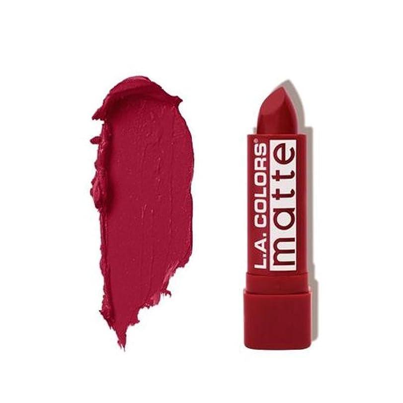 繊維無実溶かす(6 Pack) L.A. COLORS Matte Lip Color - Relentless Red (並行輸入品)