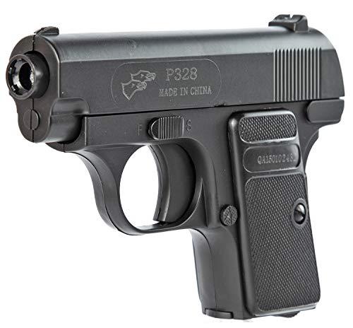 Nerd Clear Softair Pistole Schwarz 14cm |Spielzeug Waffe ab 14 Jahre: 1 Stück