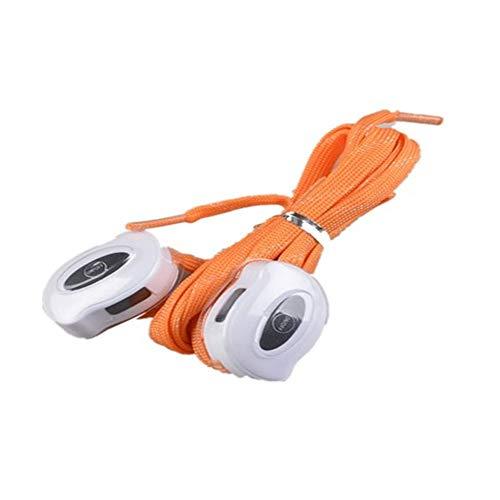USB Que Carga El Cordón De Nylon Led Que Enciende La Cuerda del Zapato,Orange