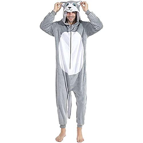 nanxing Animal Husky - Pijama de franela para perro, unisex, disfraz de cosplay
