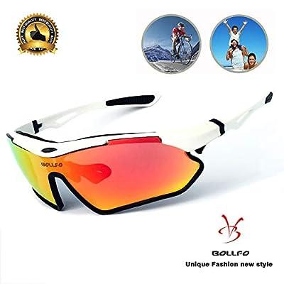 BOLLFO Polarized Sports Sunglasses for Men Women Cycling Running Climbing.